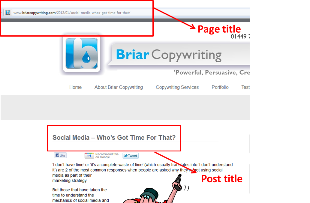 Creating Better Page Titles | Briar Copywriting
